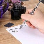 Sumnacon Plume en verre, Signature Stylo-Plume pour écrire avec boîte,Bien pour Décoration de Bureau, Anniversaire et Fête etc. (Noir) de la marque Sumnacon image 6 produit