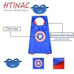 Super Hero Capes HTINAC 5 Capes et 5 Masques - Enfants Cadeaux d'anniversaire - Fête d'Anniversaire Saveurs de Conception Cosplay - Jouets pour Filles et Garçons - Value Kit - Generic de la marque HTINAC image 3 produit