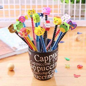 SYOO 30 x crayons de dureté de HB avec l'ensemble d'effaceur, cadeau de Giveaway pour la fête d'anniversaire parti d'enfants récompenses d'école de jardin (les couleurs sont aléatoires) de la marque SYOO image 0 produit