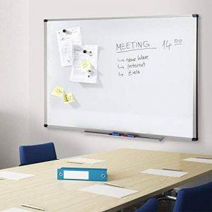 Tableau blanc Office Marshal | Élu Meilleur rapport qualité/prix | laqué aimanté | cadre aluminium | série PRO, 60x90cm de la marque Office Marshal image 0 produit