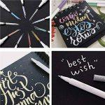 Taotree métallique stylos, Premium métallique marqueurs permanents, pointe fine, Lot de 10couleurs, cadeau pour la création de cartes, DIY Album photo (Brosse Pointe) de la marque TaotreeTM image 4 produit