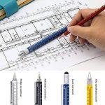 Tech Outil Stylo Woclhj 6en 1Outil multifonction avec règle, niveau à bulle, stylo à bille, Stylet, tête plate et tournevis cruciforme pour coffret cadeau pour homme bleu de la marque image 2 produit