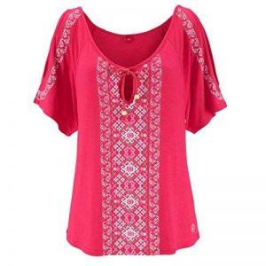 ❤️Tefamore Femmes été Imprimer manches courtes chemise Tops Blouse T-shirt de la marque Tefamore-Robe image 0 produit