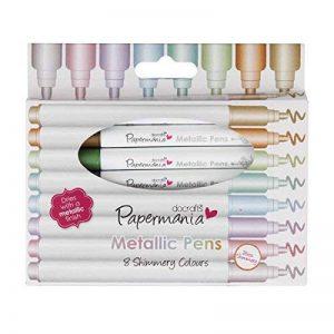 The Range Papermania Boîte de 8 feutres aux couleurs métalliques de la marque Papermania image 0 produit