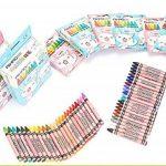 TININNA Lot de 48 Stylos de Couleur Crayons Sécurité en Cire Pastels à l'huile Boîte de Marqueur Pen pour Enfant Bébé Jouet Aquarelle Peinture Rose de la marque TININNA image 3 produit