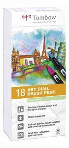 Tombow ABT-18P-5 Lot de 18 Feutres pinceau à 2 pointes, couleurs pastel, étui de la marque Tombow image 0 produit
