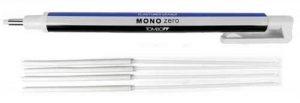 Tombow Mono Zero gomme à effacer de précision de pointe ronde + 4Gomme à Effacer de rechange de la marque Tombow image 0 produit