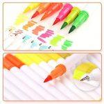 TOPmore Stylo gel à deux pointes -60 couleurs uniques une pointe de pinceau (1-2mm)et une autre 0,4 mm Pointe Fibre Pointe Feutre stylos pour le coloriage pour adultes meilleur pour la coloration (60 Couleurs Rond) de la marque TOPmore image 3 produit