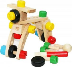 Toys of Wood Oxford Nuts and Bolts bois Construction Kits et Workbench de la marque Toys of Wood Oxford image 0 produit