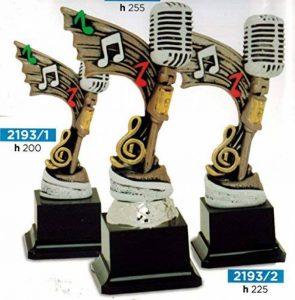 Trophée musique microphone pour concours canoro ou karaoké–H cm 25,5–Fabrication artisanale–Fabriqué en Italie de la marque CINQUESTELLE image 0 produit
