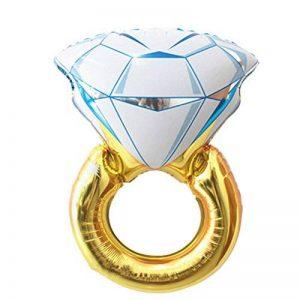 ULTNICE Ballon feuille gonflable Bague de diamant pour décorations mariage fiançailles accessoires Party - taille L de la marque ULTNICE image 0 produit