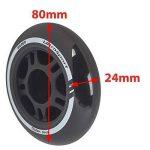 Ultrasport Roues de roller, bonne adhérence, pour usage en extérieur et en intérieur, lot de 4 roues, noir, diamètre de 80 mm de la marque Ultrasport image 4 produit