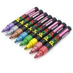 Umitive 8pcs Stylo Liquide Marqueur Craie, Vibrante Couleurs Métalliques,6mm Feutre Pointe, Crayon Craie pour Tableau Noir, Ardoise, Verre, Lumineux, Fenetre de la marque Umitive image 2 produit