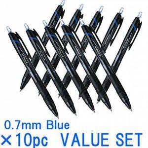 Uni-Ball Jetstream Extra Fine Point stylos à bille rétractable, -rubber Grip type -0.7Mm-blue Ink-value Lot de 10(avec notre magasin description du produit originale) de la marque Mitsubishi image 0 produit
