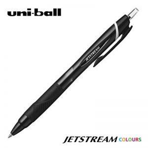 UNI-BALL Lot de 12 Stylos bille encre gel Jetstream 107 pointe 0,7mm noir pour les gauchers de la marque Uniball image 0 produit