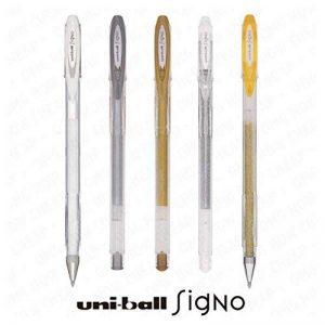 UNI-BALL SIGNO SPARKLING GLITTER, METALLIC AND PASTEL GEL INK ROLLERBALL PEN SET UM-120 (5 PEN SET) - Assorted Colours de la marque Uni image 0 produit