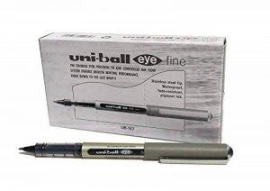 Uni-Ball Uni Mitsubishi Eye UB 157 Stylo roller Pointe métal fine Encre liquide Noire Lot de 12 de la marque Uniball image 0 produit