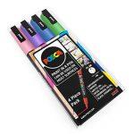 Uni Posca–PC-3M Art Peinture marqueurs–Lot de 4–Portefeuille en plastique–Tons pastels de la marque Uni-Ball-Posca image 1 produit