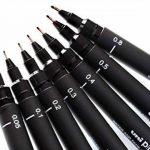 Uniball PIN Pack de 8 Feutres avec assortiment de 8tailles de pointe Noir de la marque Uniball image 2 produit