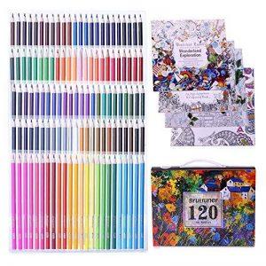 Unique de 120crayons de couleur Art Crayons pour coloration Dessin croquis Anime et Manga avec 4livres de coloriage pour adulte de la marque Laconile image 0 produit