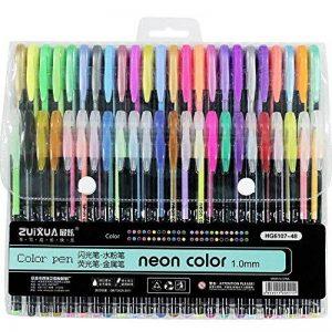 upksy Multicolore Set stylo gel pour adultes Coloration livres dessin livres de coloriage, 48stylos gel stylo gel pailletée de la marque Upksy image 0 produit