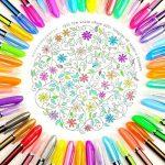 upksy Multicolore Set stylo gel pour adultes Coloration livres dessin livres de coloriage, 48stylos gel stylo gel pailletée de la marque Upksy image 1 produit