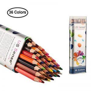 US Sense Crayons de Couleur Effet Aquarelle 36 Couleurs -Spécial Rentrée des Classes Pack de Art Dessin Crayons de coloriage de la marque US Sense image 0 produit
