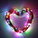 Vorally 10M 100LEDs Guirlandes lumineuses - Multi-Couleurs Lumières de Noël - DC5V1A EU Alimentation - Pour Mariage / Decoration Maison / Tous Les Fête / Jardin / etc [Classe énergétique A +] (10M:Multi-Couleurs) de la marque image 1 produit
