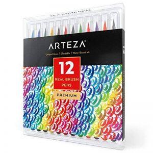 Vrais Stylos Pinceaux Arteza - 12 couleurs - Effet Aquarelle - (Lot de 12) de la marque ARTEZA® image 0 produit