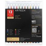 Vrais Stylos Pinceaux Arteza - 12 couleurs - Effet Aquarelle - (Lot de 12) de la marque ARTEZA® image 5 produit