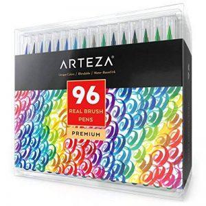 Vrais Stylos Pinceaux Arteza - 96 couleurs - Effet Aquarelle - (Lot de 96) de la marque ARTEZA® image 0 produit