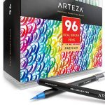 Vrais Stylos Pinceaux Arteza - 96 couleurs - Effet Aquarelle - (Lot de 96) de la marque ARTEZA® image 1 produit