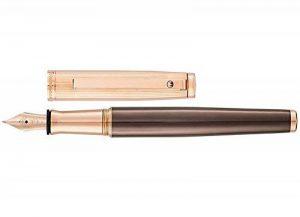 Waldmann Tuscany, stylo plume fine F, design ligne, chocolat / rose d'or, en argent sterling massif 925 de la marque WaldMann image 0 produit