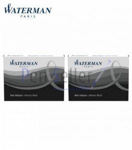 Waterman - 2 Etuis de 8 Cartouches UGC Longues Encre Noir Intense, non Effaçables. de la marque Parker image 0 produit