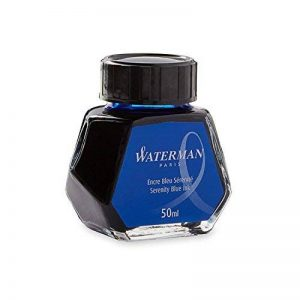 Waterman Encre pour Stylo Plume Bleu Sérénité (Effaçable) - Flacon de 50 ml de la marque Waterman image 0 produit