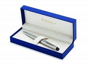 Waterman Expert Acier Attributs Chromés Stylo Bille Pointe Moyenne - dans son Écrin de la marque Waterman image 0 produit