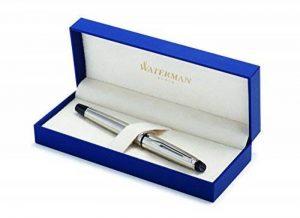 Waterman Expert Acier Attributs Chromés Stylo Roller Pointe Fine - dans son Écrin de la marque Waterman image 0 produit