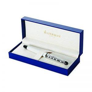 Waterman Expert Deluxe Blanc Attributs Chromés Stylo Plume Pointe Fine - dans son Écrin de la marque Waterman image 0 produit