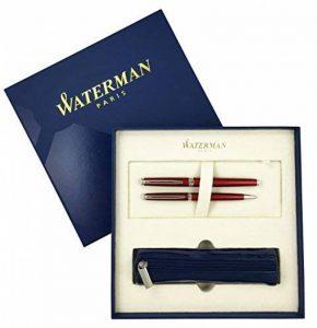 Waterman – Hemisphere 10: Parure Laque Rouge Comète Stylo Plume M + Stylo Bille + Pochette. de la marque Waterman image 0 produit