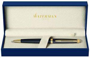 Waterman Hémisphère Mat Noir Attributs Dorés Stylo Bille Pointe Moyenne - Dans son écrin de la marque Waterman image 0 produit