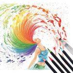 WCOCOW 20 couleurs Watercolor Brush Marker Pens Soft Flexible Tip for parfait pour cahiers de coloriage adulte, mangas, comics, calligraphie +1 water brush de la marque WCOCOW image 4 produit