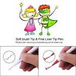 WCOCOW 60 couleurs stylo gel à deux pointes une pointe de pinceau et une autre pointe fine pour le coloriage pour adultes meilleur pour la coloration Dessin Peinture (60couleurs) de la marque WCOCOW image 3 produit