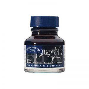 Winsor & Newton Bouteille d'encre pour calligraphie 30ml - Bleu Noir de la marque Winsor & Newton image 0 produit