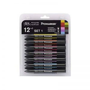 Winsor & Newton Promarker Set 1 de 13 Marqueurs Couleurs Assorties de la marque Winsor & Newton image 0 produit
