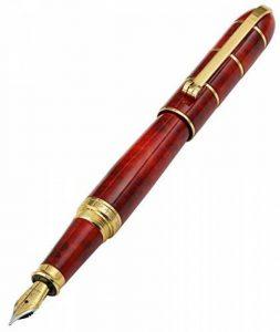 """Xezo """"Eternal Flame"""" émaillé à la main en laiton massif Serialised Stylo plume, plaqué or 18-karat, bouchon à visser. Pointe fine de la marque Xezo image 0 produit"""