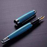 Xezo Freelancer Produit Laiton Stylo plume vénitien, Bleu Couleur. Pointe moyenne (Freelancer Bleu vénitien F) de la marque Xezo image 3 produit