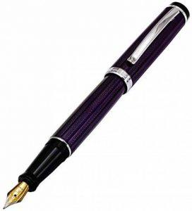 Xezo Incognito Laiton Stylo à plume fine en violet métallique de couleur, taille diamant, série, plaqué platine pièces (Incognito Violet F) de la marque Xezo image 0 produit