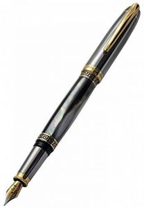 Xezo Noir de Tahiti Nacre, tungstène Finition métal Medium Stylo plume de la marque Xezo image 0 produit