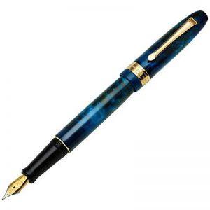 Xezo Phantom Nebula Fontaine Laiton Pen, limitée de 500, numérotées individuellement, bouchon à visser, 18-karat Plaqué or, pointe moyenne (Phantom 500Nebula F) de la marque Xezo image 0 produit