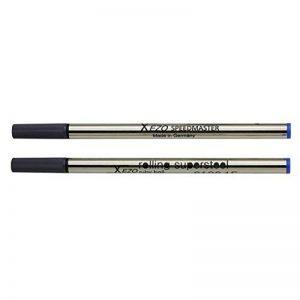 Xezo Speedmaster Recharges Roller à Pointe Fine, Lot de 2stylos, encre bleue (Blueâ 6126â Rollerballâ Recharges) de la marque Xezo Pens image 0 produit